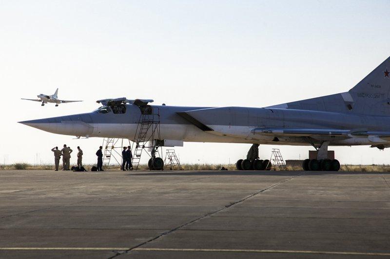俄羅斯圖-22M3遠程轟炸機。(美聯社)