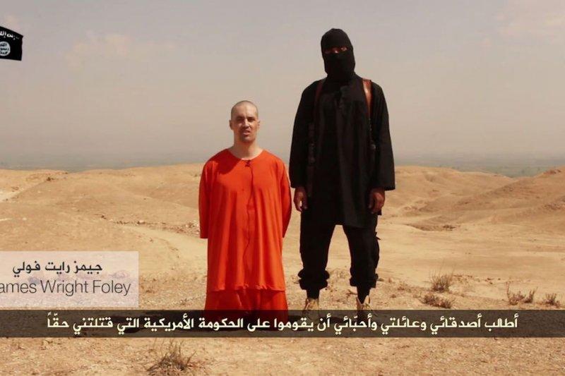 慘遭伊斯蘭國恐怖分子斬首的美國戰地記者佛利。(美聯社)