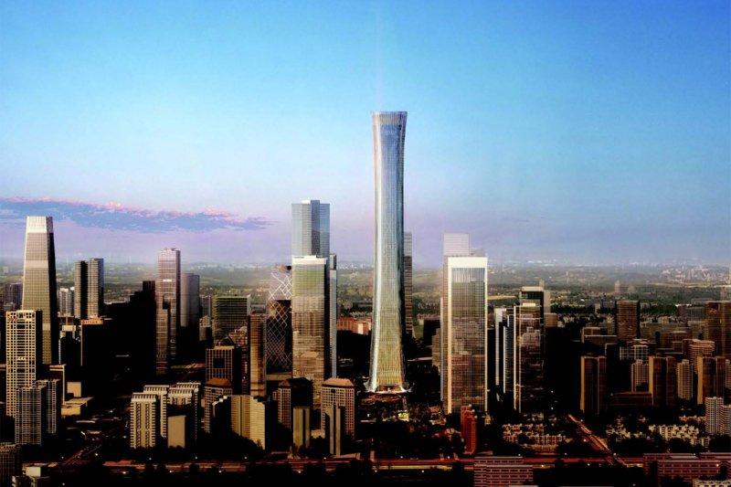 北京第一高樓「中國尊」(取自網路)