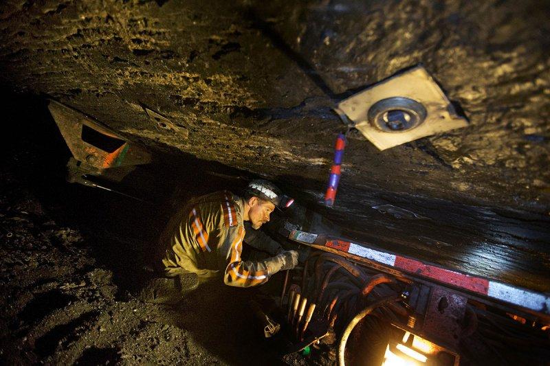 西維吉尼亞州的煤礦工人史丁森(Scottie Stinson)(美聯社)