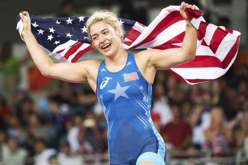 美國角力選手瑪洛莉絲獲得里約奧運女子53公斤級角力金牌。(美聯社)