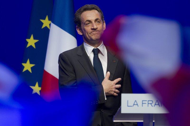 法國前總統薩科齊宣布參選2017年總統大選。(美聯社)