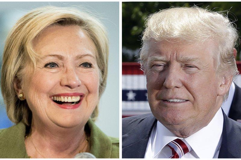 2016年美國總統大選,希拉蕊與川普對決(AP)