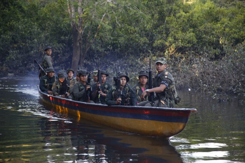 哥倫比亞革命武裝力量人民軍游擊隊。(美聯社)
