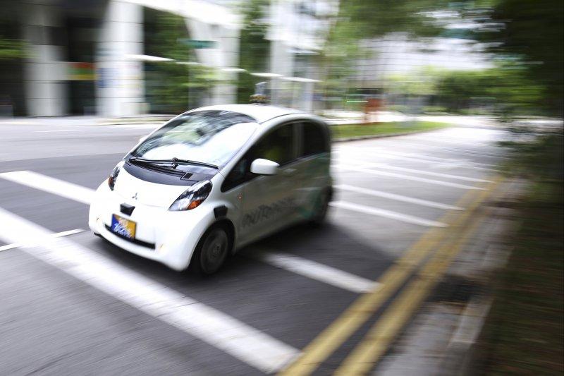 新加坡無人駕駛計程車「nuTonomy」(AP)
