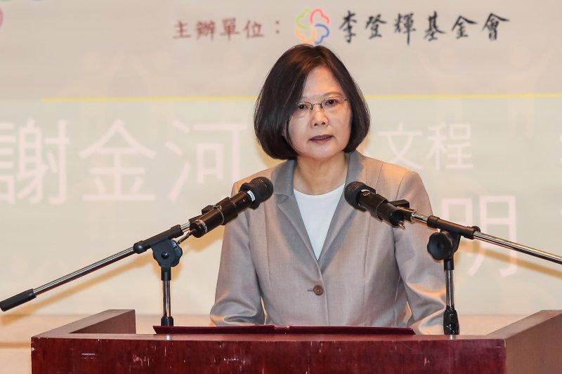 20160827-總統蔡英文27日出席「人民直選總統暨台灣民主發展二十週年」研討會。(顏麟宇攝)