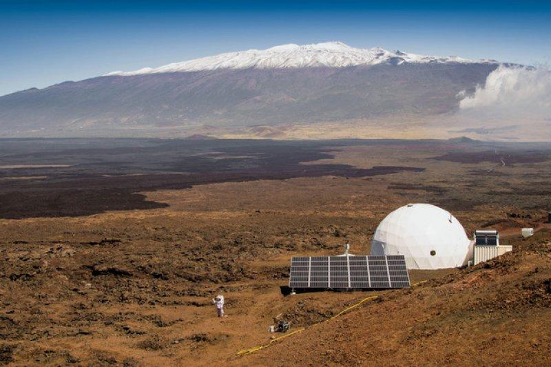 美國航太總署(NASA)位在夏威夷莫納羅亞火山(Mauna Loa)的火星計畫實驗基地。(美聯社)