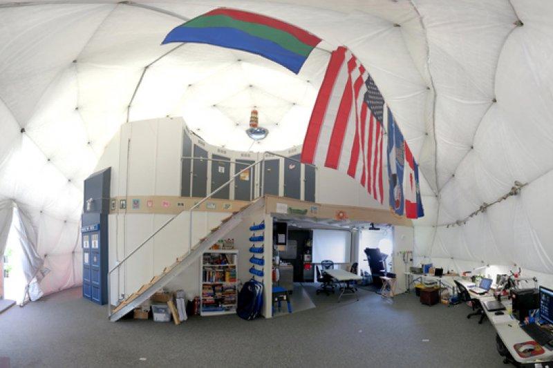 美國航太總署(NASA)火星計畫的實驗基地內部。(美聯社)
