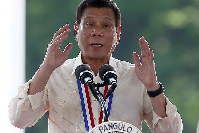 菲律賓總統杜特蒂強力掃毒,甚至說出「吸毒者不是人」的驚人發言。(美聯社)