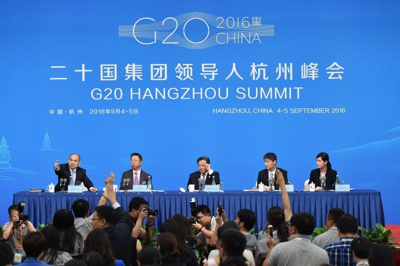 20國集團(G20)工商界活動(B20)在杭州舉行記者會(新華社)