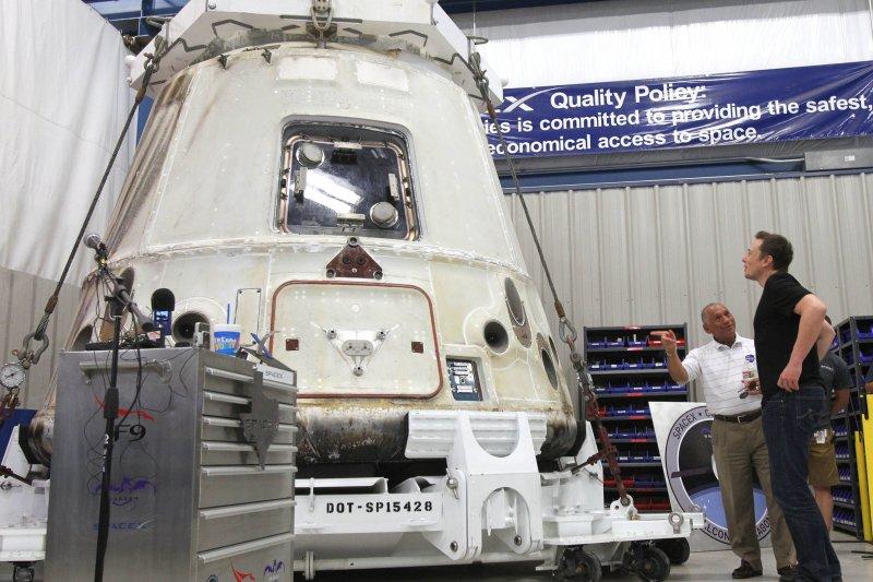 SpaceX公司的「天龍號」(Dragon)貨運太空船(AP)