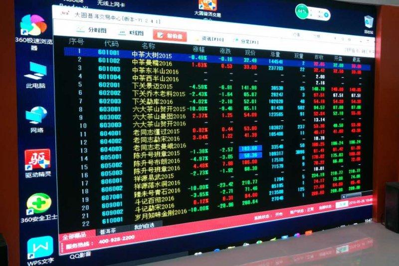 普洱茶+文創金融的標準化,讓一片普洱茶能進入證券交易的市場(圖/作者提供)