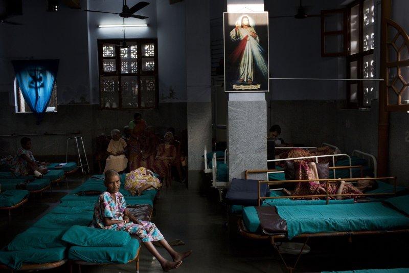 德蕾莎修女(Mother Teresa)創立的垂死之家內部(美聯社)