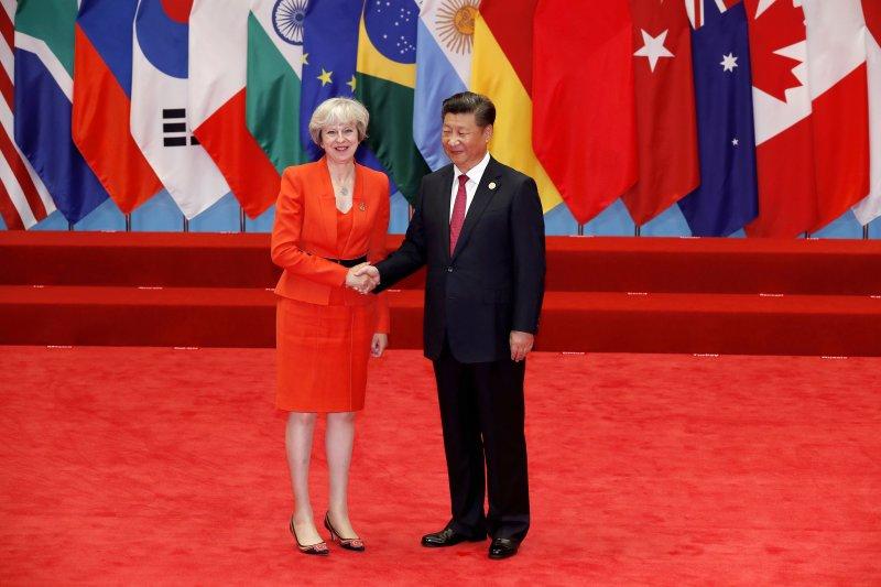 英國新首相梅伊出席G20杭州峰會,首度參與國際會議。(美聯社)