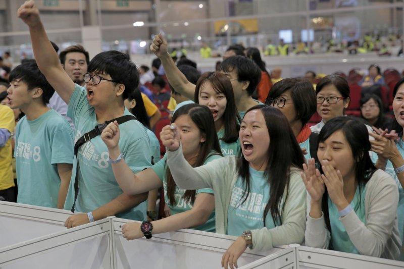 香港立法會選舉,本土派新政黨「香港眾志」頗有斬獲(AP)