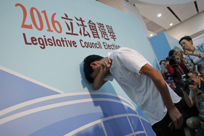 香港立法會選舉本土派當選人朱凱迪(AP)