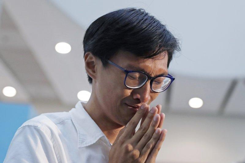 香港「自決派」立法會議員朱凱迪報名參與鄉郊代表選舉遭港府拒絕。(AP)