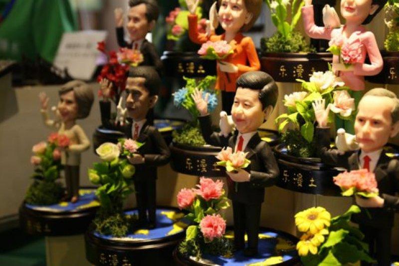 杭州民間藝人製作的G20領導人「捏塑」。(BBC中文網)