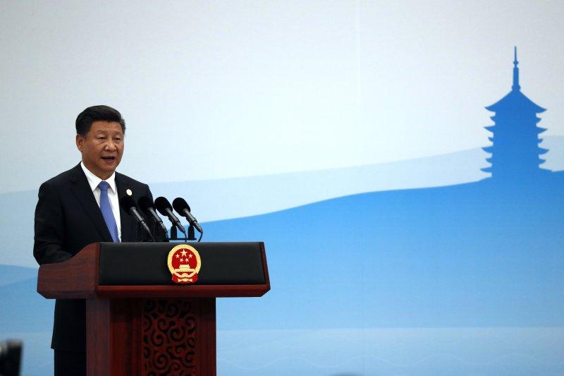 杭州G20峰會,習近平發表談話。(美聯社)