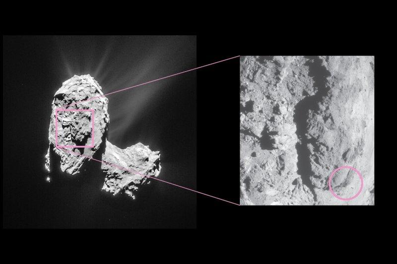 67P/楚留莫夫-格拉希門克彗星影像。(美聯社)