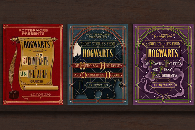 J.K.羅琳推出3本電子書,揭開魔法世界與霍格華茲魔法學校的黑暗祕密。(照片:Amazon.com/風傳媒製圖)