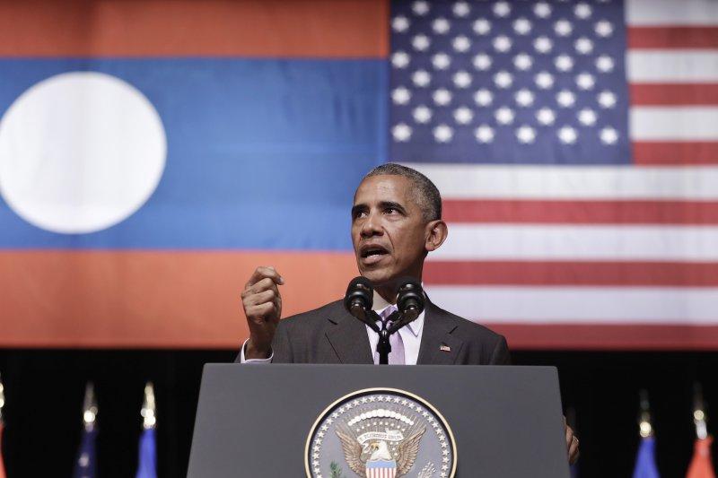 美國總統歐巴馬(Barack Obama)任內最後一次亞洲行終點站來到寮國,成為首位在任內訪問寮國的美國總統。(美聯社)