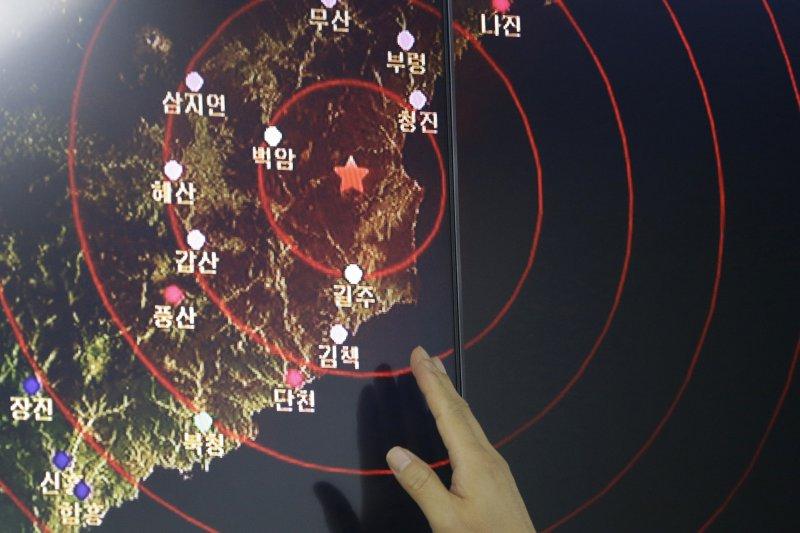 北韓9日第5度試爆核彈,國際社會高度關切(美聯社)