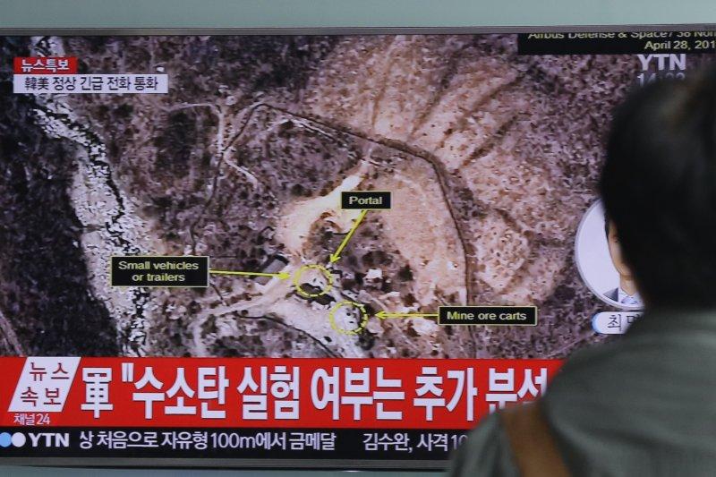 北韓9日試爆核彈,南韓社會高度關注(AP)