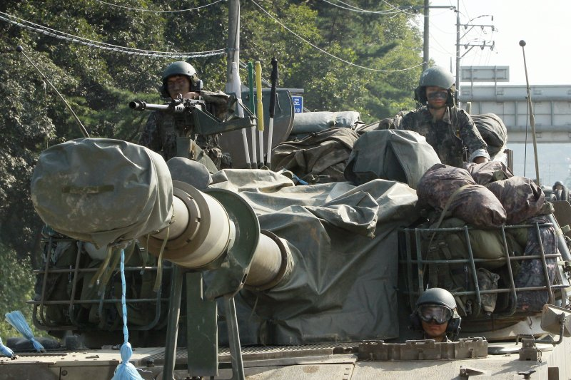 南韓陸軍演習,K-9自走砲登場(AP)