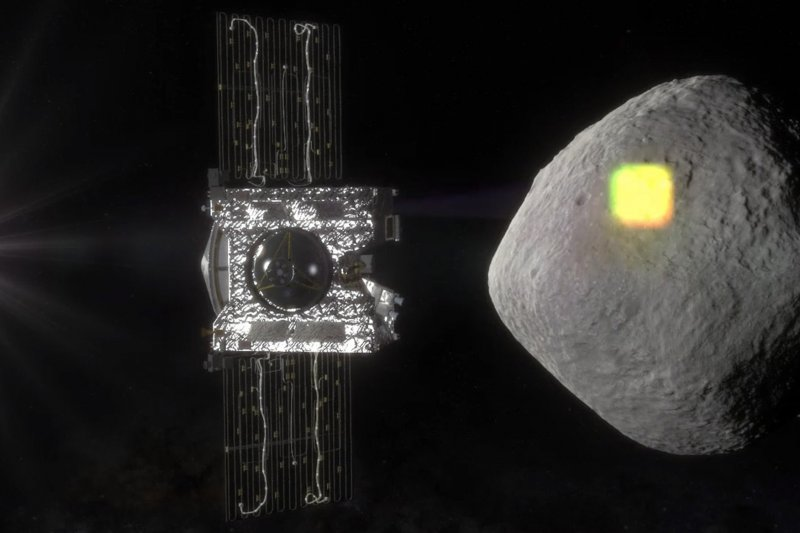 美國小行星採樣探測器「歐西里斯-REx」(OSIRIS-REx)8日升空,前往小行星「貝努」(Bennu)採集樣本並送回地球。(AP)