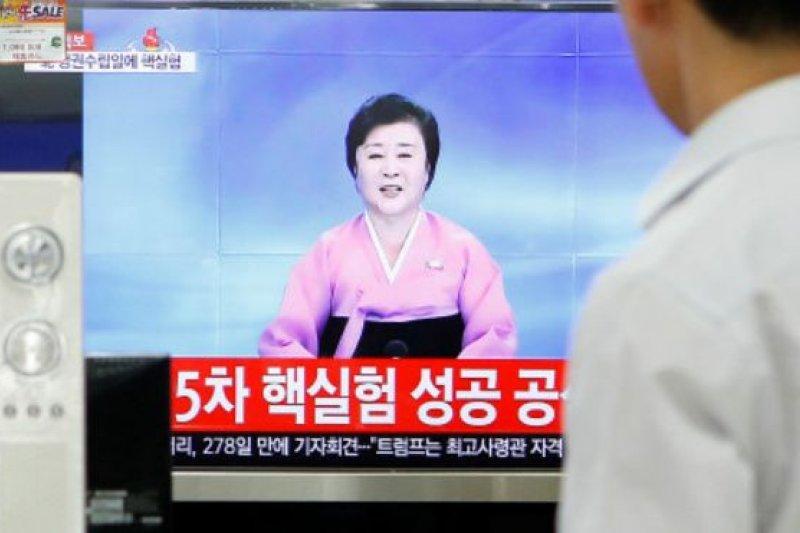 北韓進行第5次核試驗。(BBC中文網)