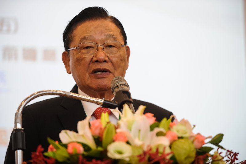 台經40智庫高峰會,台經院董事長江丙坤-甘岱民攝
