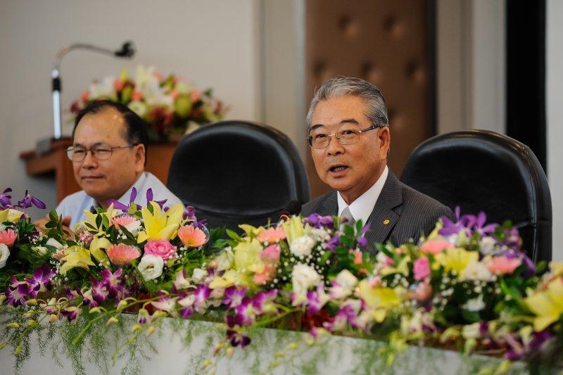 台經40智庫高峰會,中國生產力中心董事長許勝雄-甘岱民攝