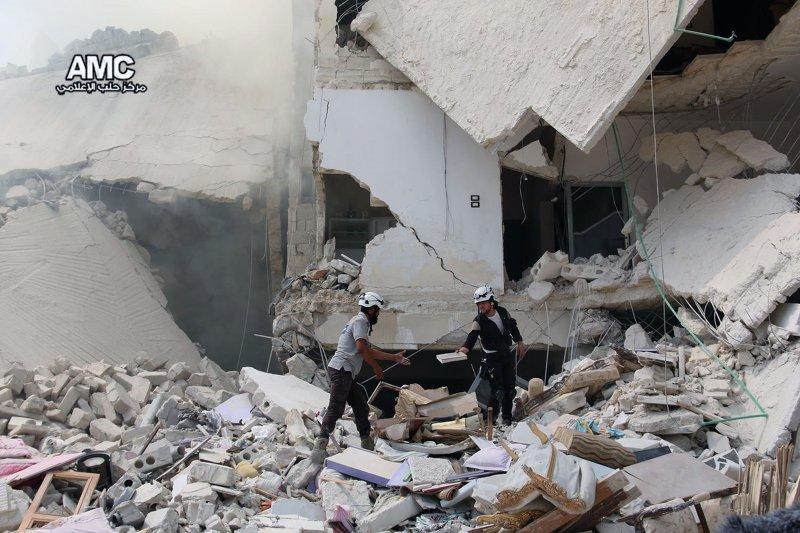 被戰火侵襲的敘國北部大城阿勒坡。(美聯社)