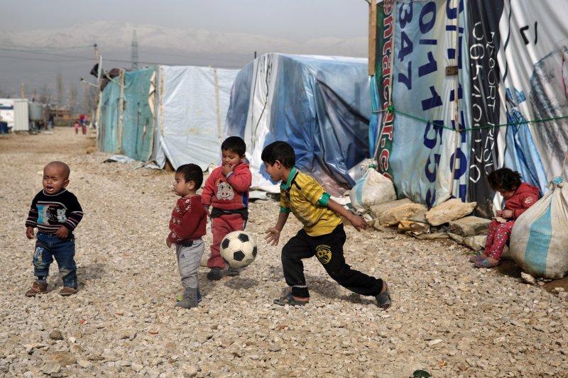 敘利亞難民兒童。(美聯社)
