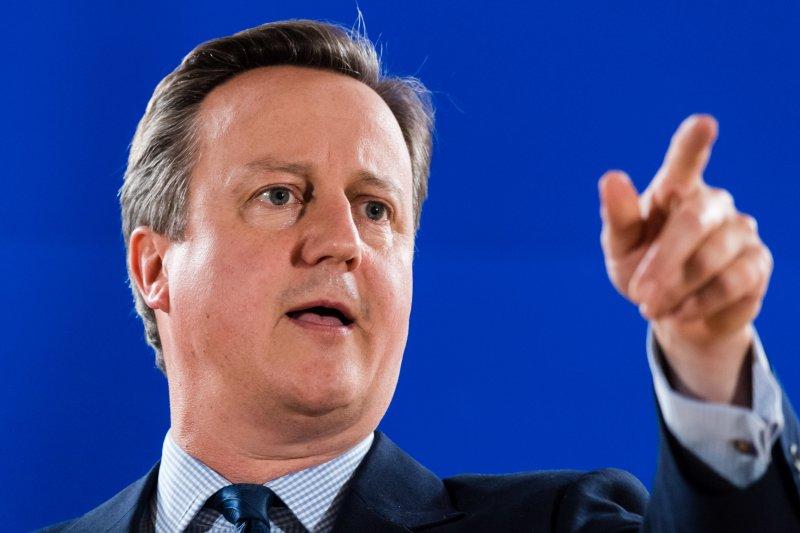 前英國首相卡麥隆。(美聯社)