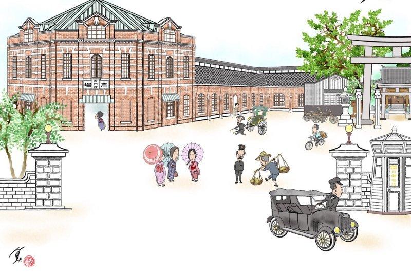 日本時代的菜市場,竟能長得像歐洲博物館...(圖/魚夫提供)