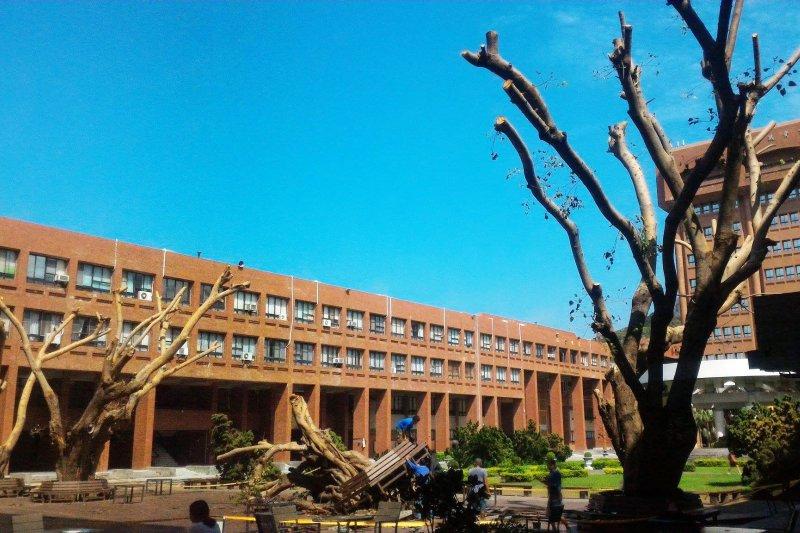 高雄中山大學歷經颱風,快速恢復。校內教授王致遠雖四肢截肢,也和校園一樣重生,回到課堂授課!(圖/國立中山大學 National Sun Yat-sen University@facebook)