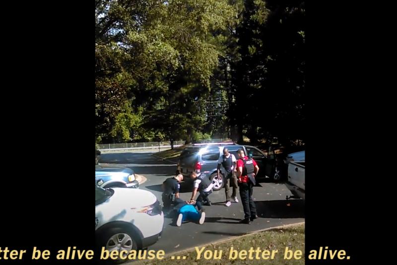 由死者妻子拍攝的手機影片片段。