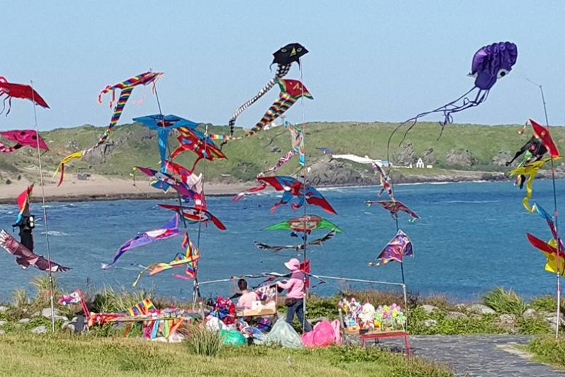 新北市北海岸風箏節於今(24)、明(25)日,總計有20個不同蜂團團隊參賽,分別來自10個不同國家。(取自新北市北海岸風箏節臉書).jpg