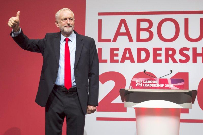 英國最大反對黨工黨黨魁柯賓(Jeremy Corbyn)(AP)