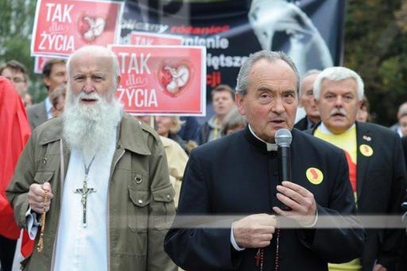 反墮胎團體聚集國會前示威。(美聯社)