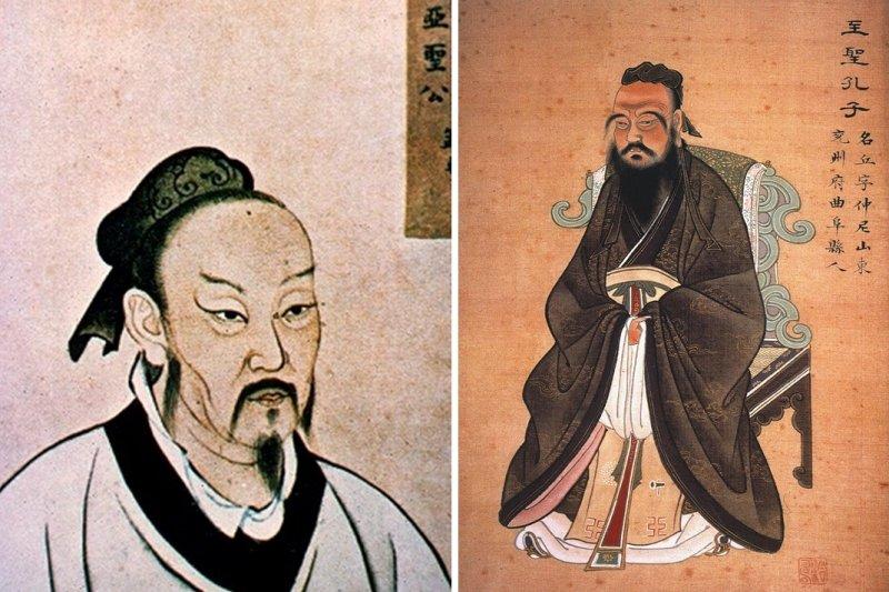 儘管儒家極為講究家庭倫理,對於孔子、孟子等大學者的另一半,可說是幾乎隻字未提...(圖/wikimedia commons)