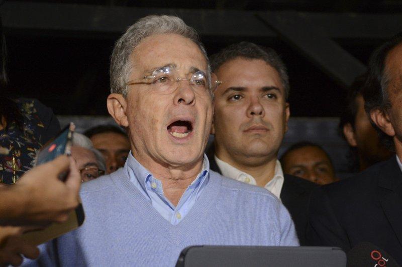 哥倫比亞前總統烏力偉(Álvaro Uribe)帶頭反對和平協議(AP)
