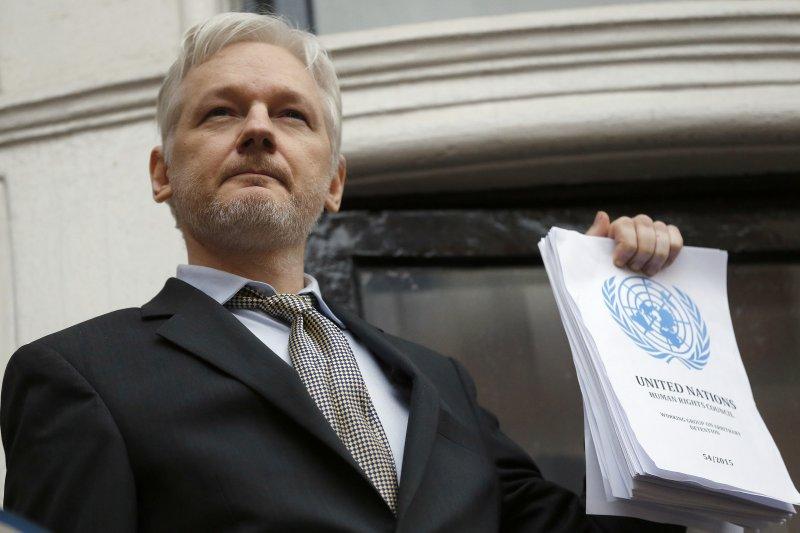 「維基解密」網站創辦人阿桑奇(Julian Assange)。(美聯社)