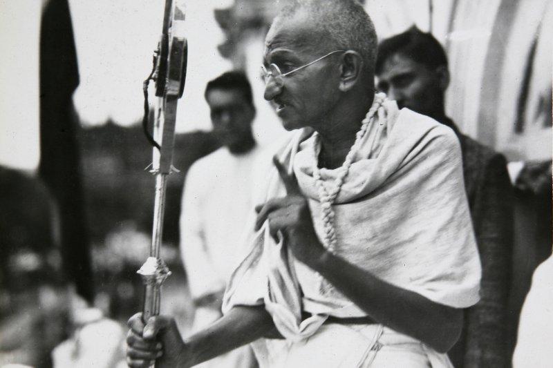 印度聖雄甘地(Mahatma Gandhi),攝於1931年(AP)