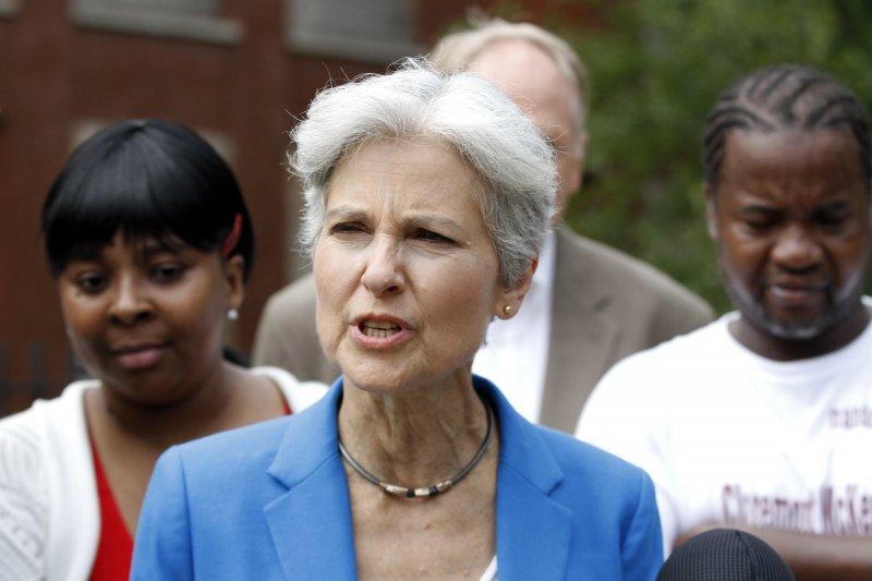 代表美國綠黨競選總統的史坦(Jill Stein)。(美聯社)