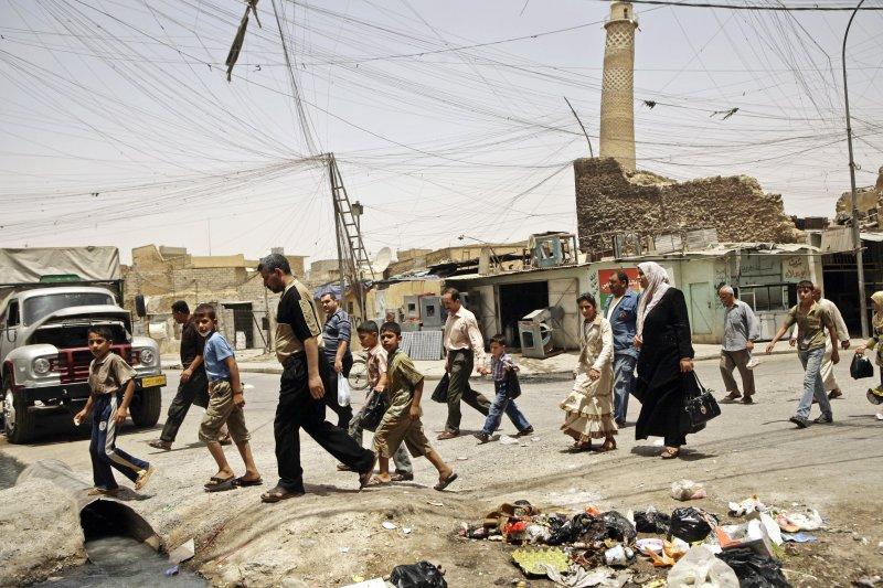 摩蘇爾是伊拉克第二大城,收復行動預計將造成百萬人逃出。(美聯社)