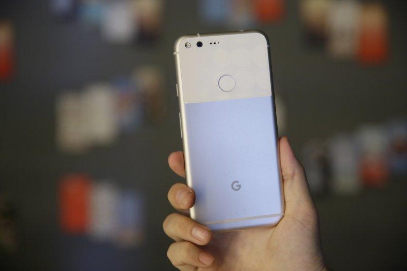Google新手機Pixel。(美聯社)
