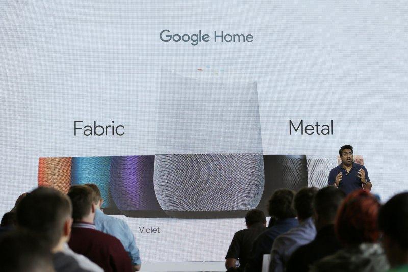 智慧家庭裝置「Google Home」。(美聯社)